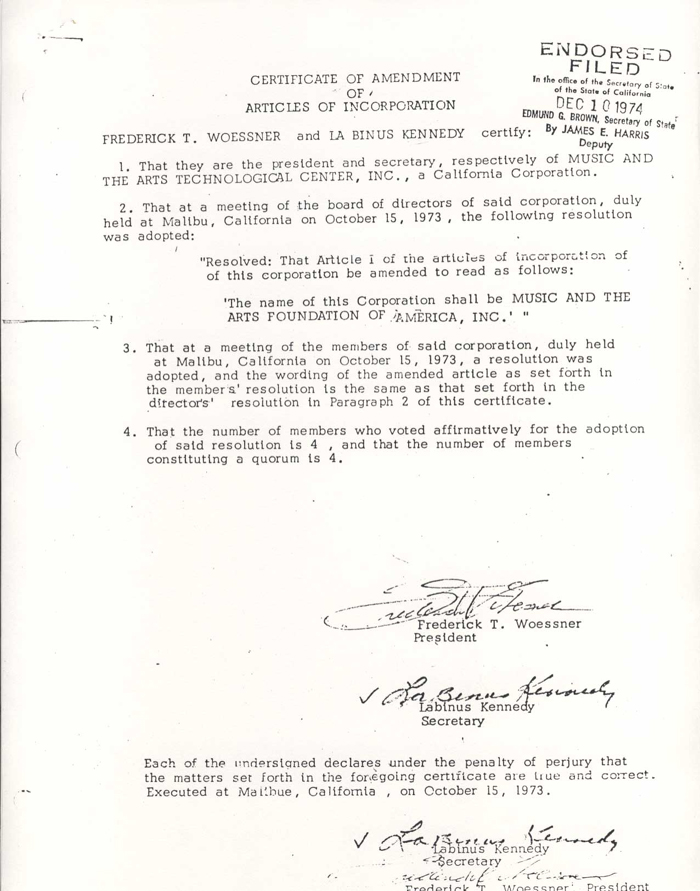 CVMCollectionsVisualMusicAlliance - Amended articles of incorporation template